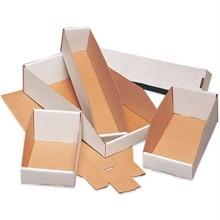 """White Corrugated Bin Boxes, 4 x 9 x 4 1/2"""""""