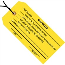 """4 3/4 x 2 3/8"""" Pre-Strung Inspected Tags"""