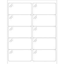 Crystal Clear Rectangle Laser Labels - 4 x 2""