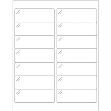 Crystal Clear Rectangle Laser Labels - 4 x 1 1/3""