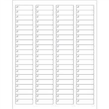 Crystal Clear Rectangle Laser Labels - 1 3/4 x 1/2""