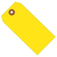 """Yellow Plastic Square Shipping Tags #8 - 6 1/4 x 3 1/8"""""""