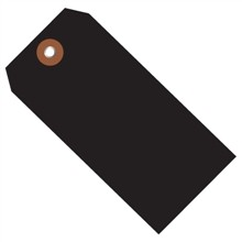 "Black Plastic Square Shipping Tags #5 - 4 3/4 x 2 3/8"""