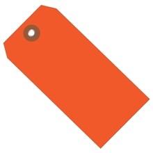 "Orange Plastic Square Shipping Tags #5 - 4 3/4 x 2 3/8"""