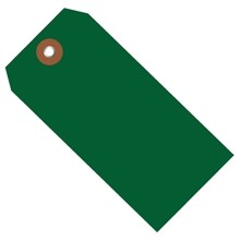 Green Plastic Square Shipping Tags #8 - 6 1/4 x 3 1/8""