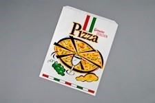 """White Printed Paper Pizza Bags, Trattoria Design, 16 x 2 x 20"""""""