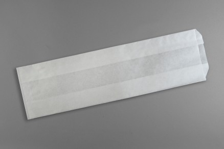 "White Waxsealed Bread Bags - Italian Bread Size, 5 1/4 x 3 1/4 x 18"""