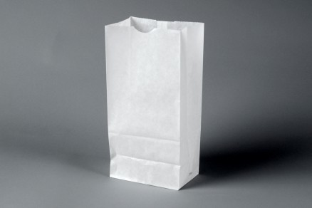 Bakery Bags, White, Waxed, 6 5/8 x 3 7/8 x 13 1/8""