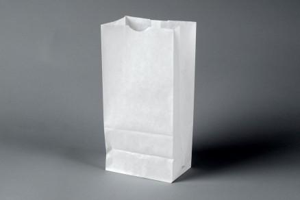 "Bakery Bags, White, Waxed, 6 1/8 x 3 7/8 x 12 5/8"""