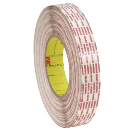 """3M 476XL Double Sided Extended Liner Film Tape - 1/2"""" x 360 yds."""