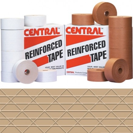 Central® Economy Water Activated Kraft Sealing Tape, 72mm x 375