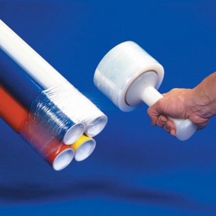 "Bundling Hand Stretch Film, 100 Gauge, 3"" x 650"
