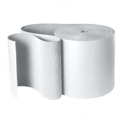 "Corrugated Wrap Roll, 48"" X 250', B Flute, White"