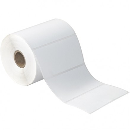 White Desktop Direct Thermal Labels, 4 x 2""