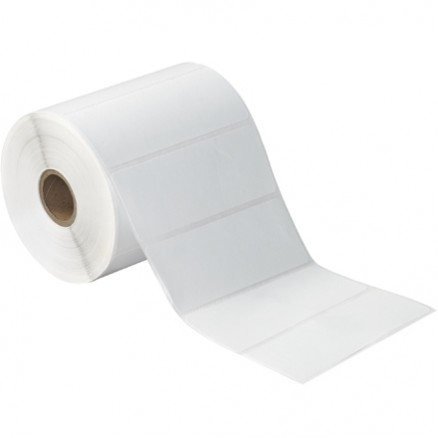 White Desktop Direct Thermal Labels, 4 x 1 1/2""