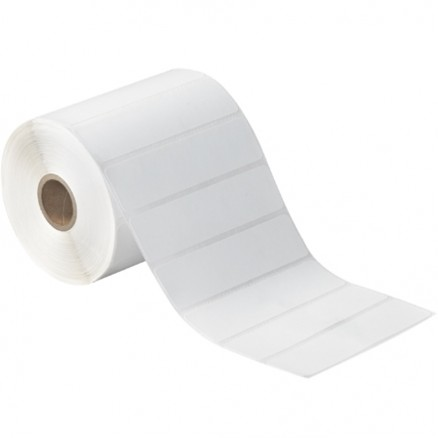 White Desktop Direct Thermal Labels, 4 x 1""