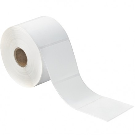 White Desktop Direct Thermal Labels, 2 1/4 x 2""