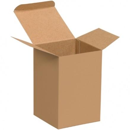 "Chipboard Boxes, Folding Cartons, Reverse Tuck, 4 x 4 x 6"", Kraft"