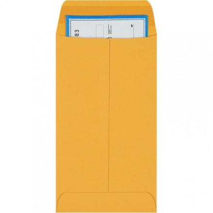 """Gummed Envelopes, Kraft, 3 3/8 x 6"""""""