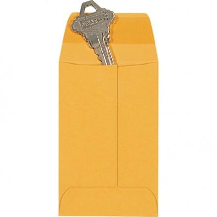 """Gummed Envelopes, Kraft, 2 1/4 x 3 1/2"""""""