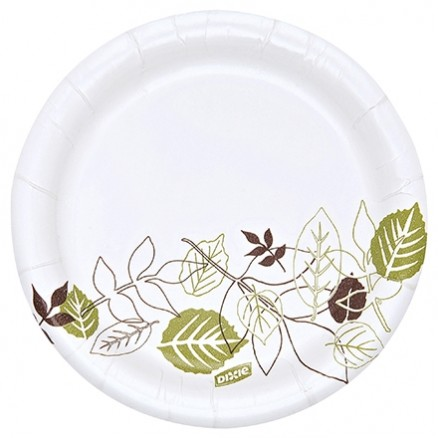 """Dixie® Heavy Weight Paper Plates, White, 6"""""""