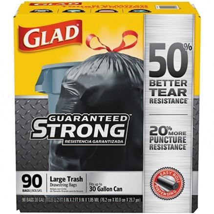Glad® Trash Bags, 30 Gallon, Black