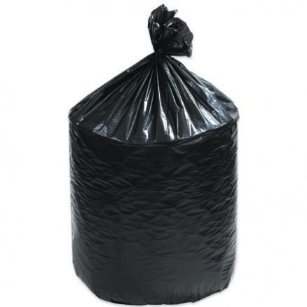 Trash Liners, 33 Gallon, .7 Mil, Black