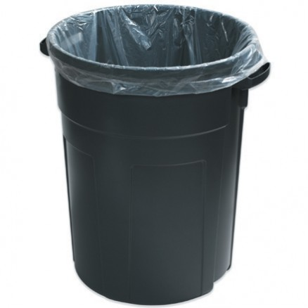 Trash Liners, 33 Gallon, 1.5 Mil, Clear
