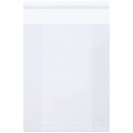 """Resealable Poly Bags, 12 x 4 x 18"""", 2 Mil, Gusseted"""
