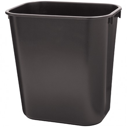 Rubbermaid® Office Trash Can - 3 Gallon, Black