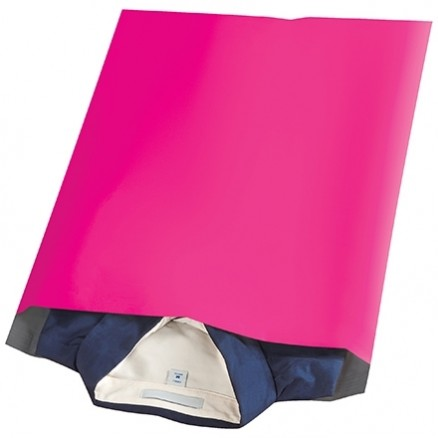"""Poly Mailers, Pink, 14 1/2 x 19"""""""