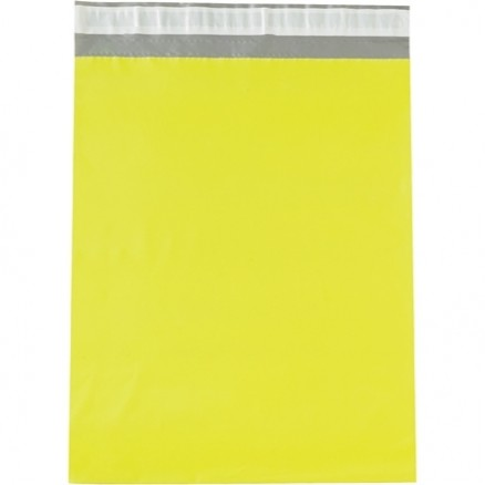 """Poly Mailers, Yellow, 14 1/2 x 19"""""""
