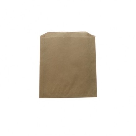 Grease Proof Kraft Sandwich Bags, 6 x 0.75 x 6.5""