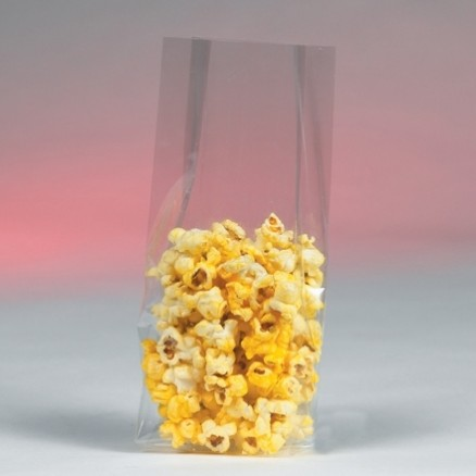 """Gusseted Polypropylene Bags, 3 1/2 x 2 1/4 x 9 3/4"""", 1.5 Mil"""