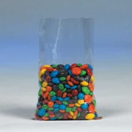 "Flat Polypropylene Bags, 3 x 5 1/2"", 1.5 Mil"
