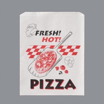 """Printed Paper Pizza Bags, 12 x 15"""""""