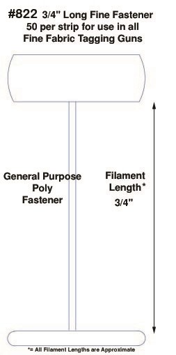 """Fine Fabric Poly Tagging Fasteners, 3/4"""""""