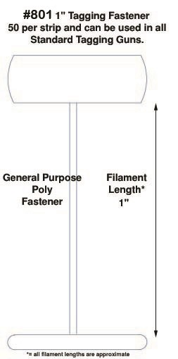 """Poly Fasteners, Natural, 1"""""""