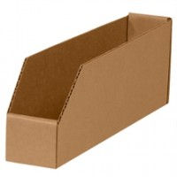 "2 x 18 x 4 1/2"" Kraft Open Top Corrugated Bins"