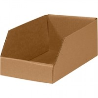 "6 x 12 x 4 1/2"" Kraft Open Top Corrugated Bins"
