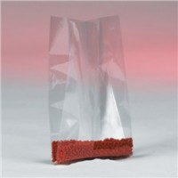 "Poly Bags, 8 x 4 x 18"", 4 Mil, Gusseted"