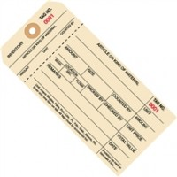 """Stub Tags - 6 1/4 x 3 1/8"""" (1000-1999)"""
