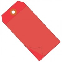 "6 1/4 x 3 1/8"" Red Self Laminating Tags"