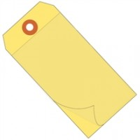 "6 1/4 x 3 1/8"" Yellow Self Laminating Tags"