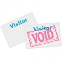 One Day Visitor Badges, 3 x 2""