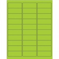 Green Removable Rectangle Laser Labels - 2 5/8 x 1""