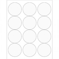 Clear Clear Circle Laser Labels, 2 1/2""