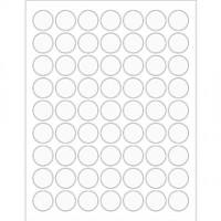 Clear Circle Laser Labels - 1""
