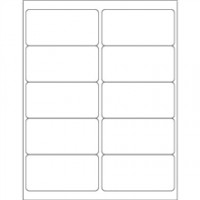 White Removable Rectangle Laser Labels - 4 x 2""