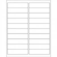 White Removable Rectangle Laser Labels - 4 x 1""